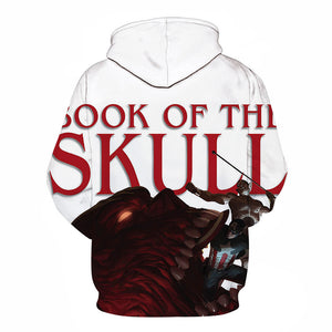 Book of Skull Marvel's Captain America Printed Unisex Pullover Sweatshirt Hoodie - My Gift Of Today