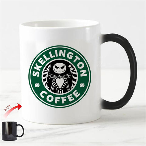 Jack  Skellington Nightmare Before Christmas Color Changing Ceramic Coffee Mug