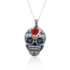 Bohemian Skull Pendant Vintage Style Chain Link Women's Necklace