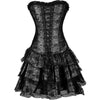 Gothic Corset Dress Burlesque Style Costume & Party Dress in Black - My Gift Of Today
