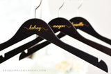 dark wood wedding hanger