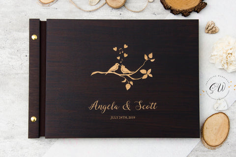 Wedding Guest Book, Love Birds