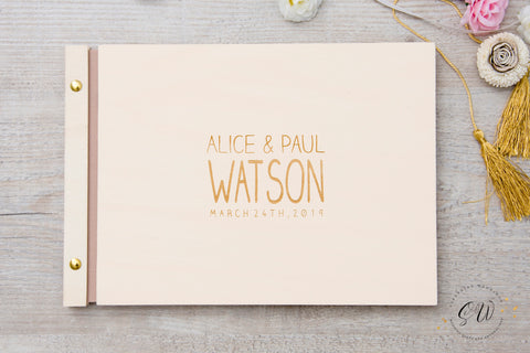 Wedding Guest Book, Simple Text