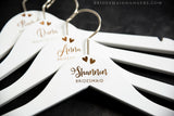 White Hanger, Name & Title with Two Hearts