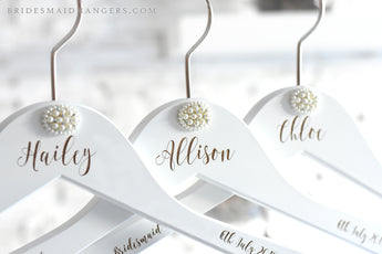 custom name wedding hanger