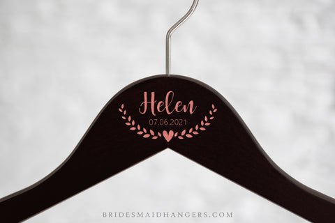 Dark Hanger, Name with Heart Ornament