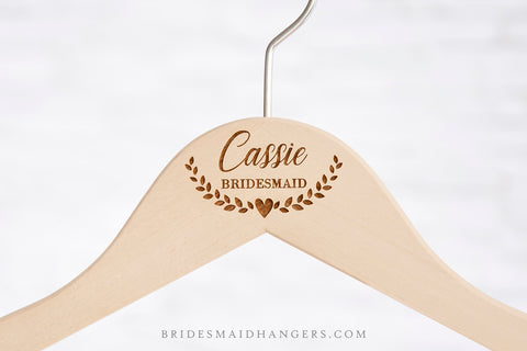 Natural Hanger, Name with Heart Ornament