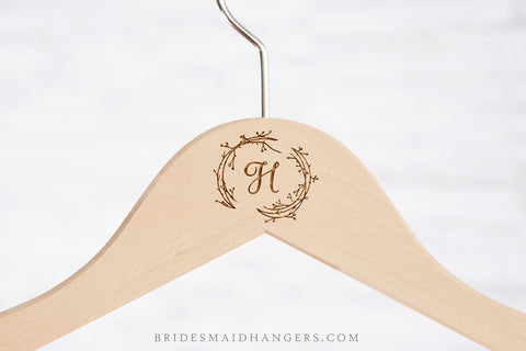 Natural Hanger, Floral Initial III