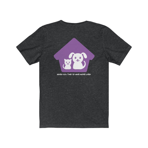 Expo Tee Big Paw (dark grey plain back) - Marc (XL) - Allthingsfrenchie LLC