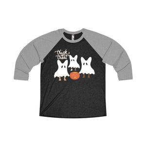 Trick or Treat Raglan Tee - Allthingsfrenchie LLC