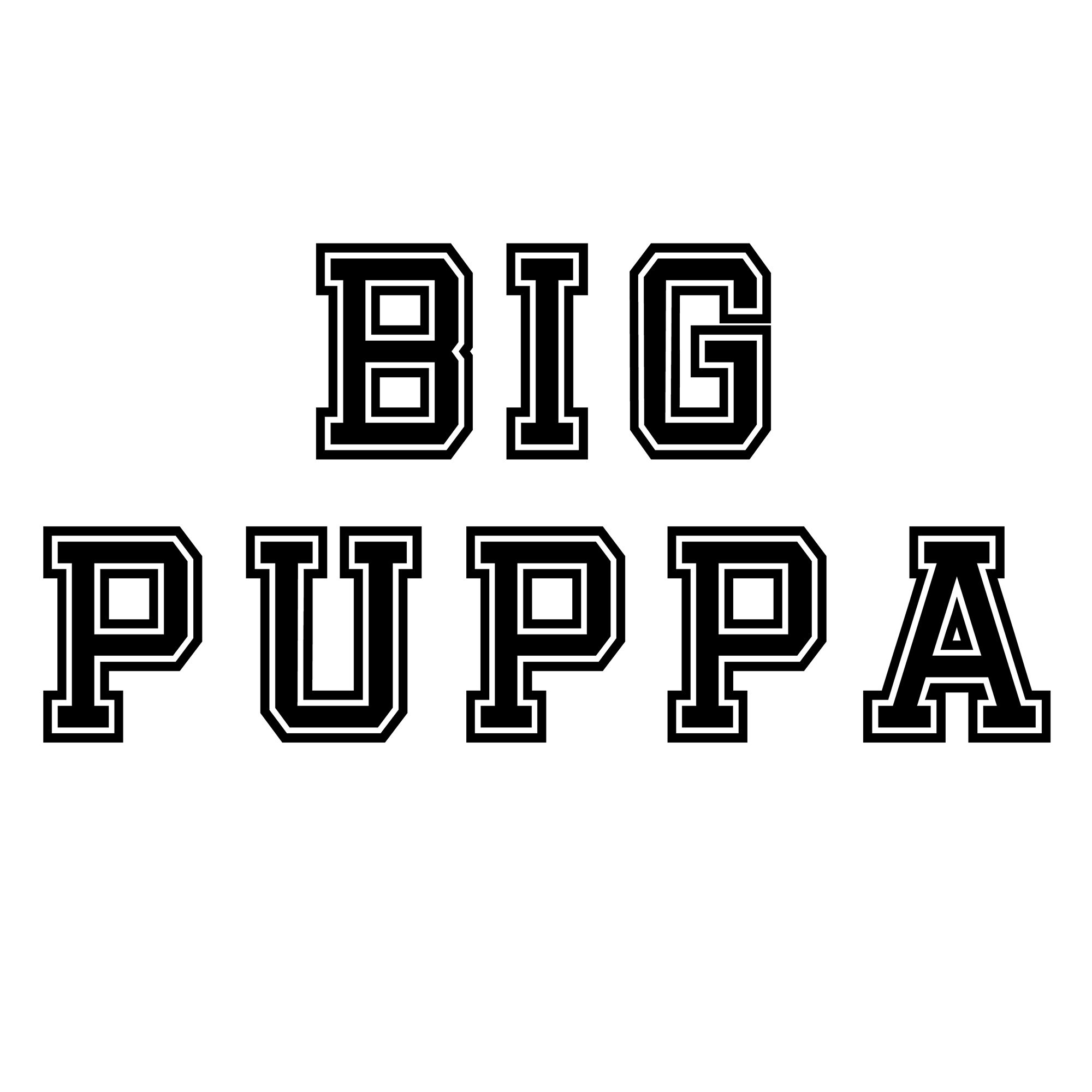 Big Puppa Men's T-Shirt - Allthingsfrenchie LLC