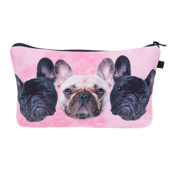Three's A Crowd Pleaser Zip Pouch - Allthingsfrenchie LLC