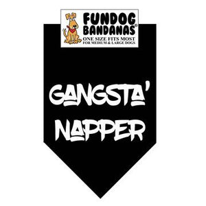 Gangsta Napper Bandana - Allthingsfrenchie LLC