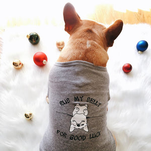 Rub My Belly Doggy Tee - Allthingsfrenchie LLC