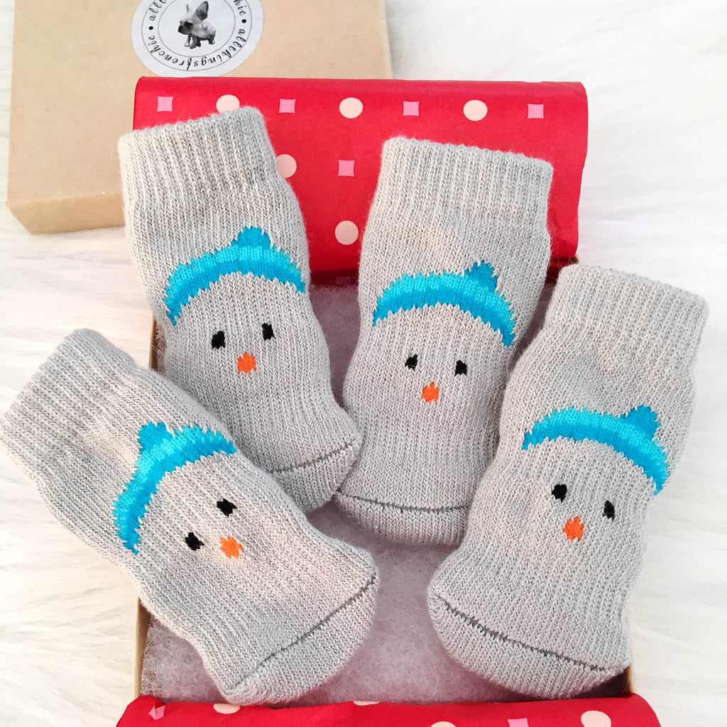 Frosty Dog Socks - Allthingsfrenchie LLC