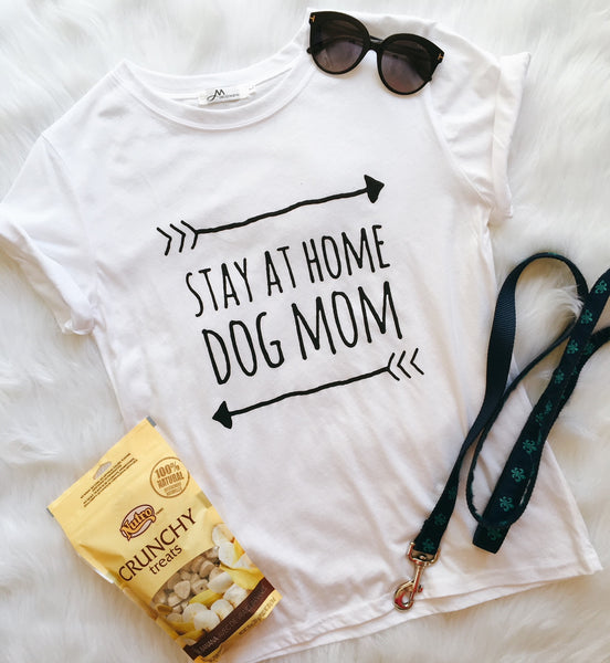 Stay At Home Dog Mom Tee - Allthingsfrenchie LLC