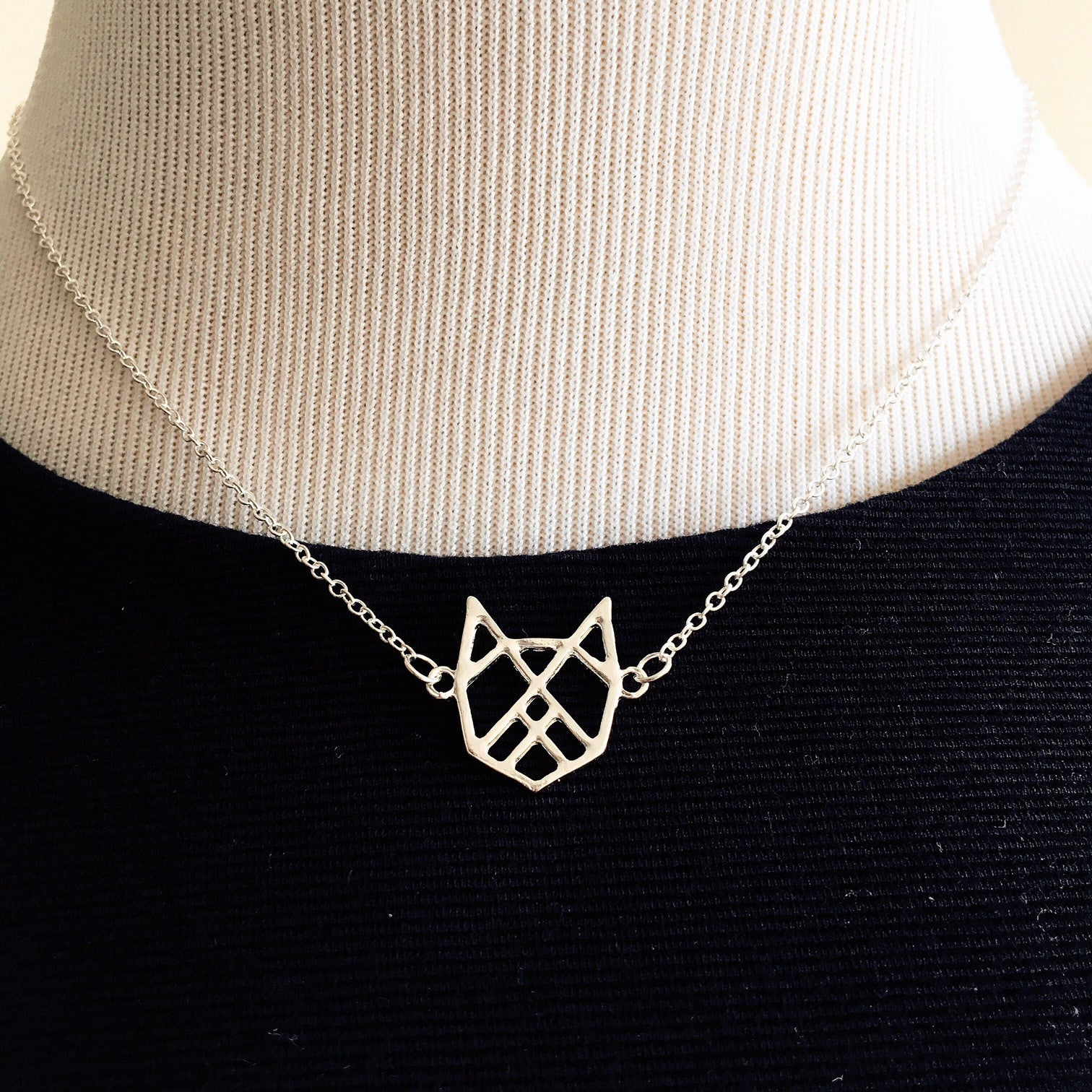 SILVER BELLE Origami Necklace - Allthingsfrenchie LLC