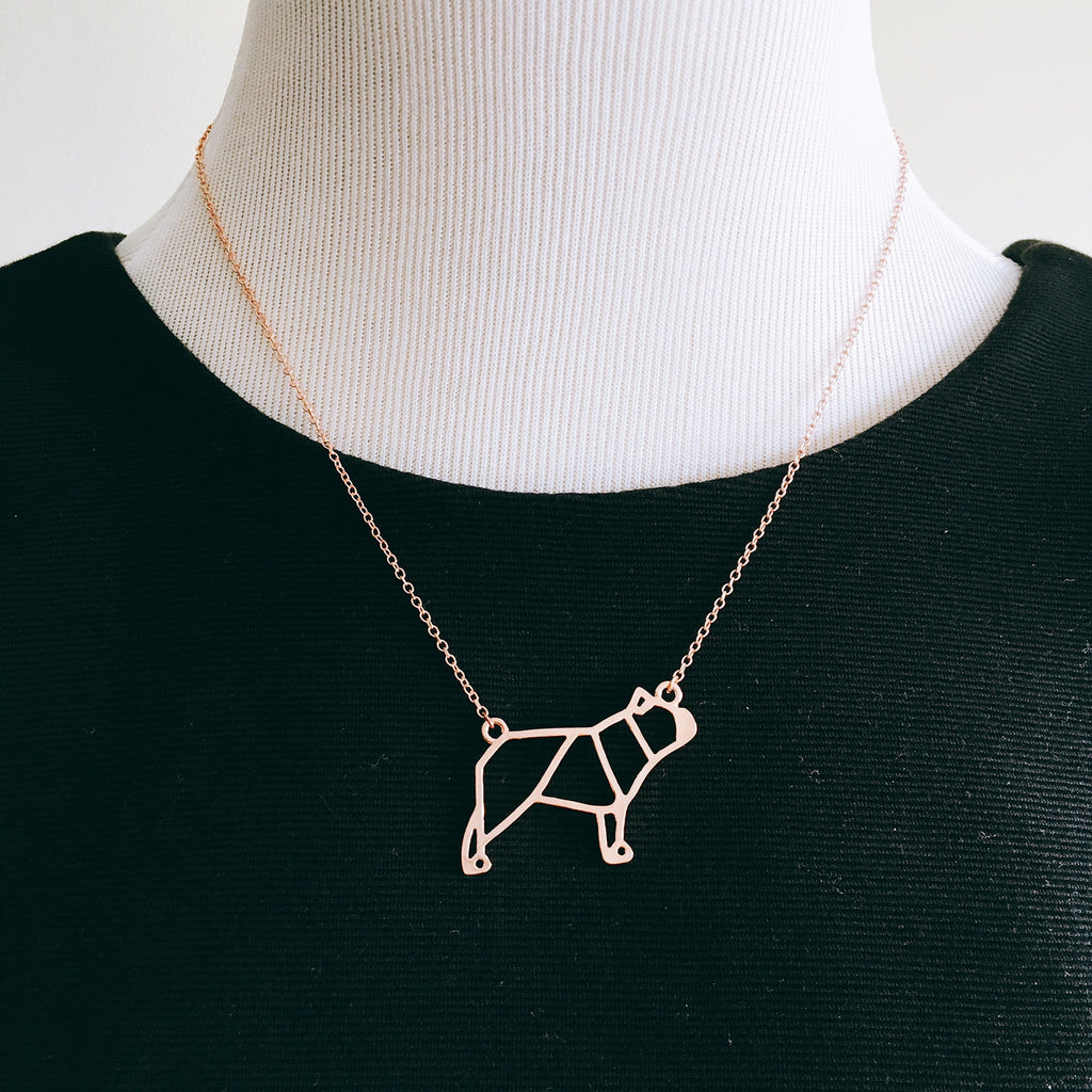 INDY Origami Necklace - Allthingsfrenchie LLC