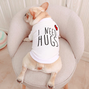 I Need Hugs Dog Tee - Allthingsfrenchie LLC