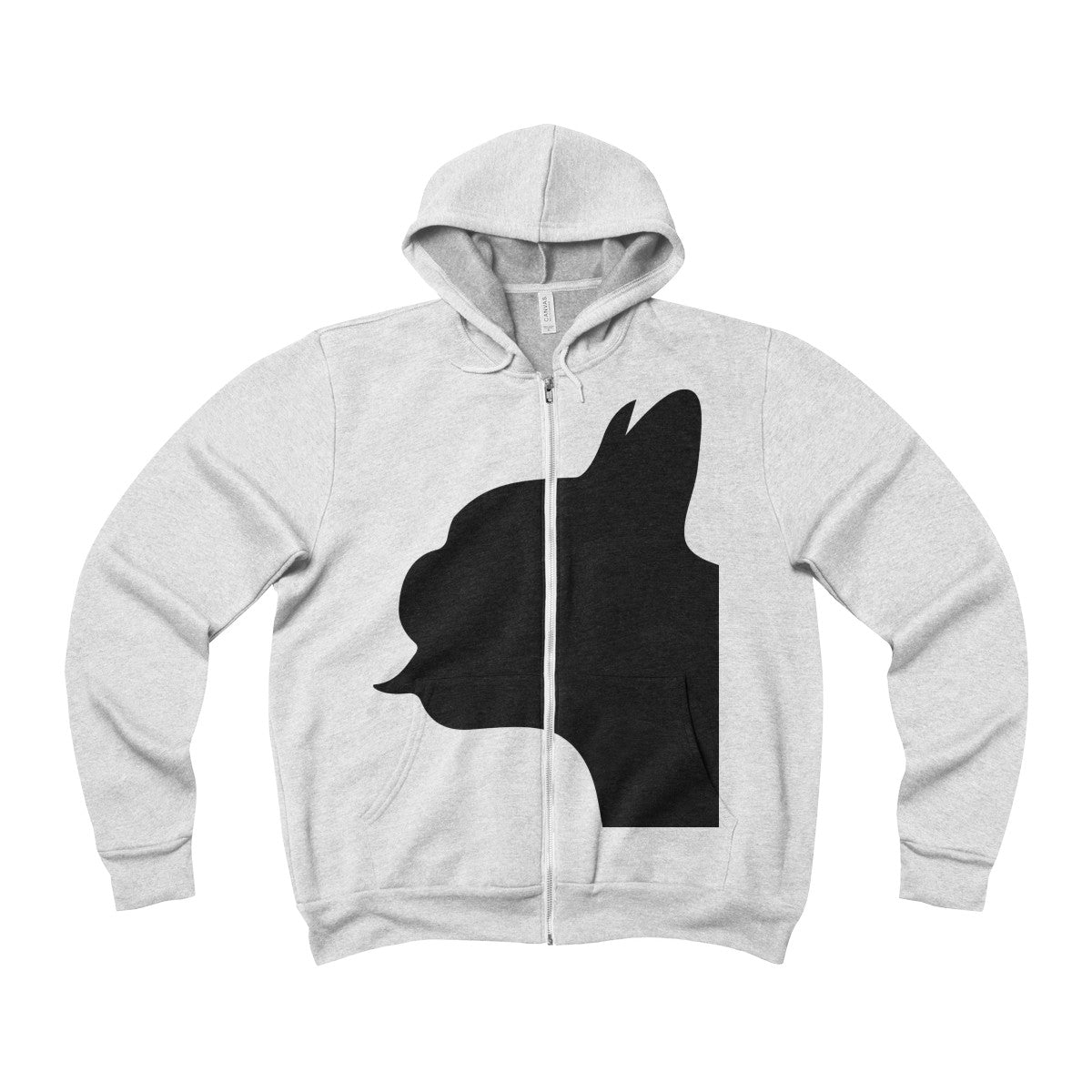 Frenchie Fleece Full-Zip Hoodie - Allthingsfrenchie LLC