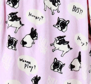 Pet Fleece Blanket - Frenchie Pattern - Allthingsfrenchie LLC