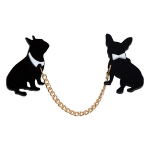 Dressed To The Canines Brooch - Allthingsfrenchie LLC