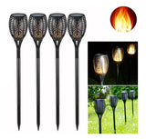 Solar-Powered Flame Torch Lamp