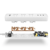 Extension Lead With 3 Sockets + 3 USB Ports (Fast Charging)