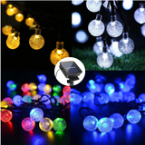 Solar-Powered Globe String Lights