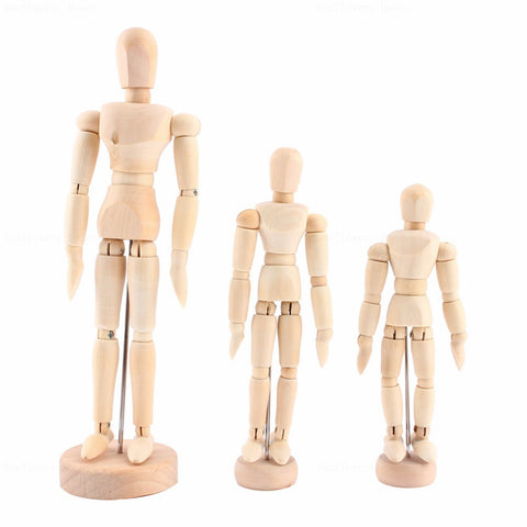 Artist's Wooden Mannequin with Movable Limbs