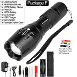 Ultra Bright Aluminum Tactical Flashlight (Rechargeable)