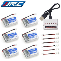 5 x Spare Batteries and USB Cable Set For JJRC H20 Mini RC Hexacopter Drone