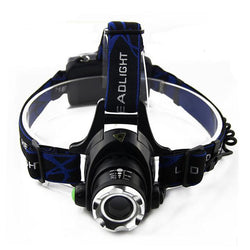 Single LED Headlamp (Waterproof & Rechargeable)