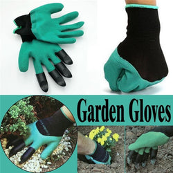 Multi-Purpose Garden Gloves with 4 Plastic Claws