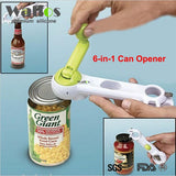 Ultimate Kitchen Tool: 6-in-1 Bottle + Can + Jar Opener