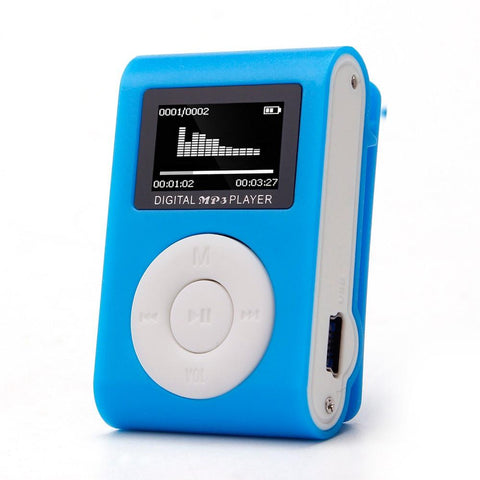 Mini Clip-on MP3 Player (in lots of Funky Colors)