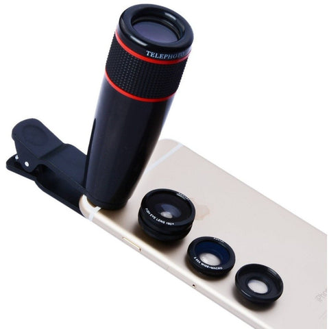 Ultimate 4 in 1 Camera Lens Kit (iPhone or Android)