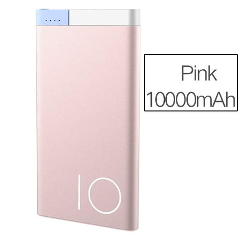 Ultra-Slim 10,000 mAh Spare Battery For Android or iPhone