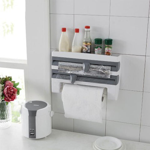 Tidy 4-In-1 Kitchen Roll Dispenser (Plastic Wrap / Paper Towels / Aluminum Foil / Baking Paper)