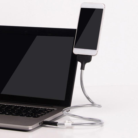 Flexible Phone Holder and Charger (For iPhone or Android)