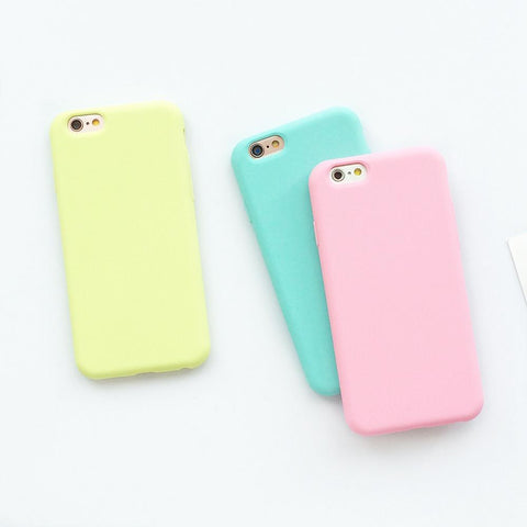 Soft Pastel Colored Cases for iPhone (Series 5 / 6 / 7 / 8 & X)