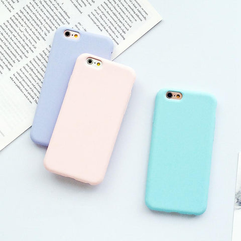 Soft Pastel Colored Cases For Iphone Series 5 6 7 8 X