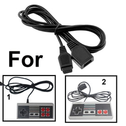 2 x 1.8m Extension Cables For Retro Video Game Console Controllers