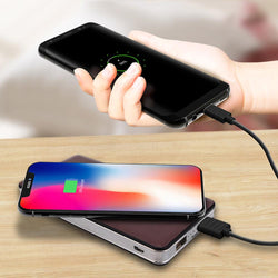 2-in-1 Wireless Charger & Power Bank (For Android Or iPhone)