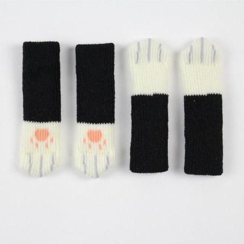 4pcs Cute Non-Slip Cat Paw Chair Socks
