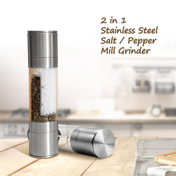 2-In-1 Stainless Steel Pepper & Salt Grinder