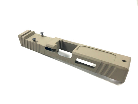 RMR Cut Slide with Window Cutout and Pocket Cuts, Fits Gen3 G19 and Gen4 G19. Custom upgrade your Glock or complete your Polymer 80.