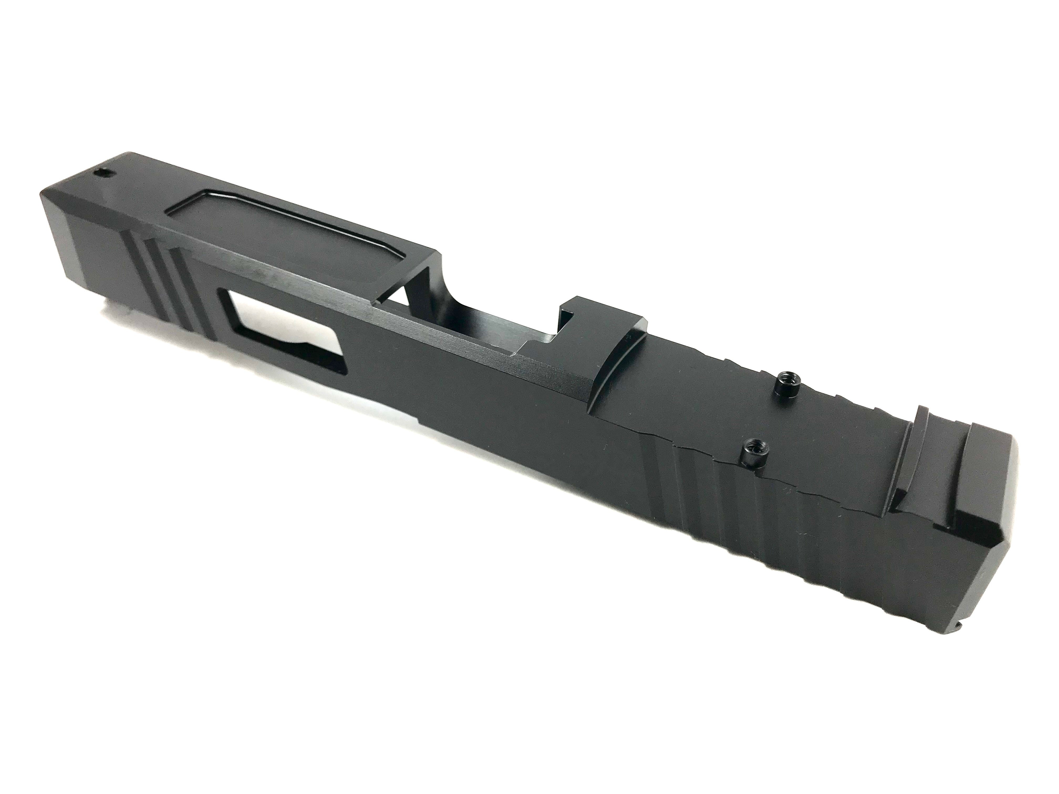 RMR Cut Slide with Window Cutout and Pocket Cuts, Fits Gen3 G17. Custom upgrade your Glock or complete your Polymer 80.