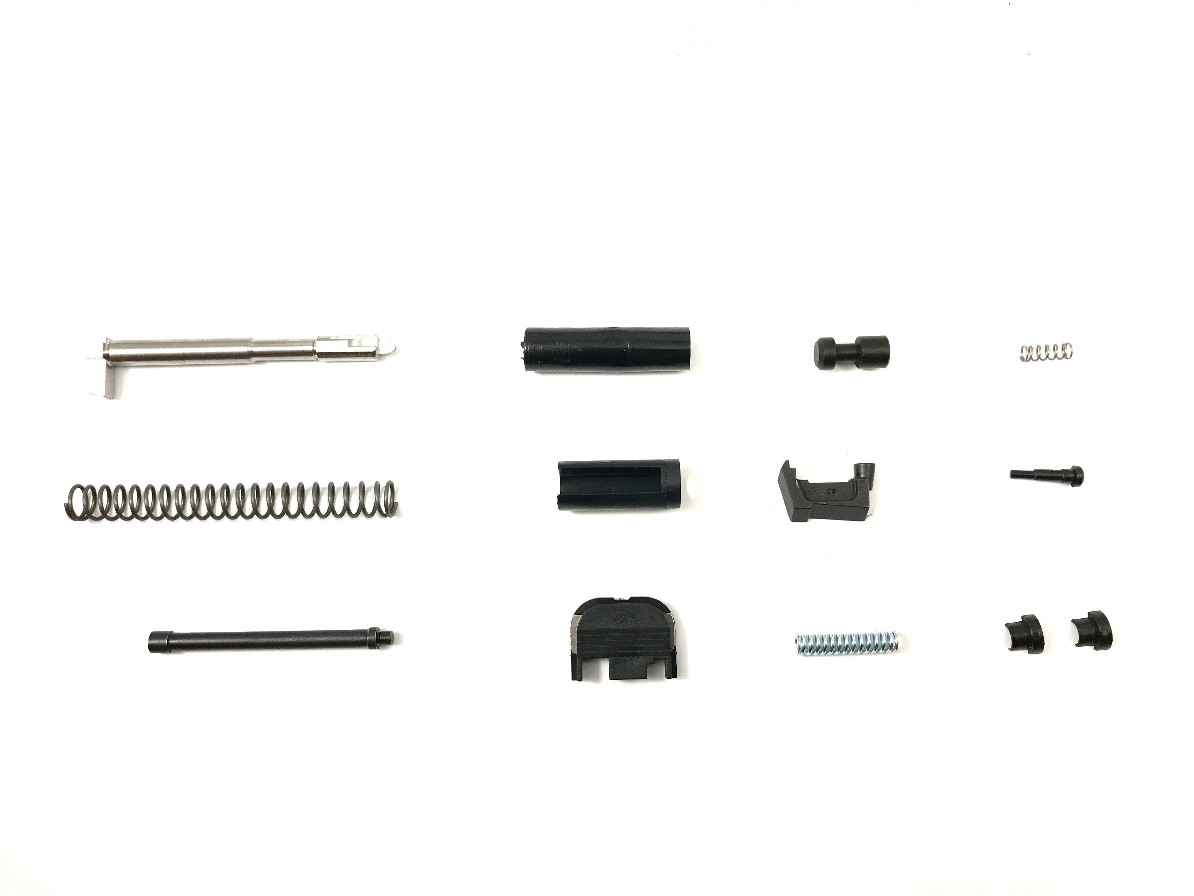 Slide Completion Kit (with standard extractor) Fits Glock Pistols, G17, G19, G26, G34. Parts for Custom Glock Upgrade or Polymer 80 Build