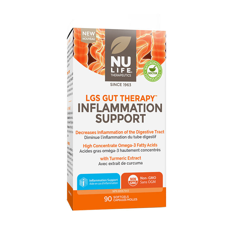 Nu Life LGS Gut Therapy Inflammation Support 90 Softgels
